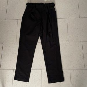High waisted black crop pants